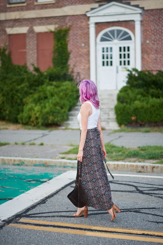 wrap skirt hello caroline august champagne thursday jess levy boston style fashion blogger