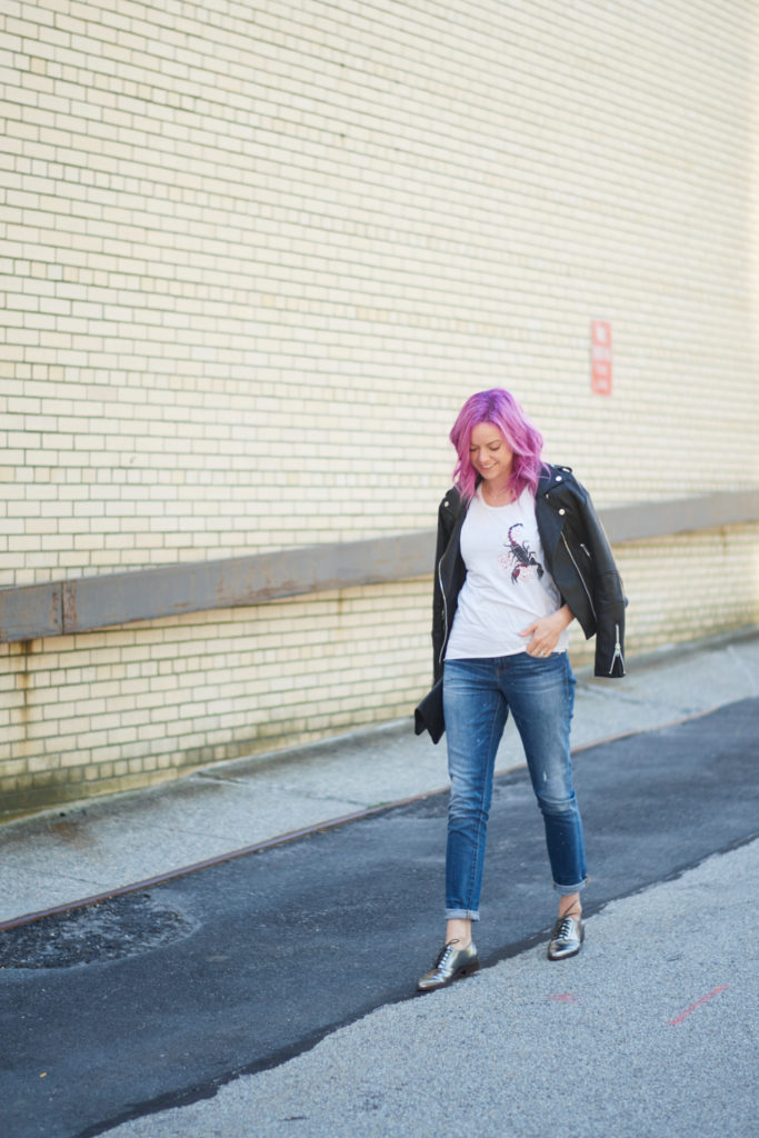 champagne thursday astrology sign casual outfit boston style fashion blogger